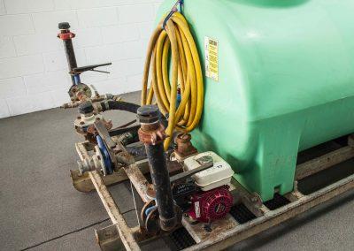TWS DRY HIRE Skid Mount Watercart 3500L Rear Sprayers